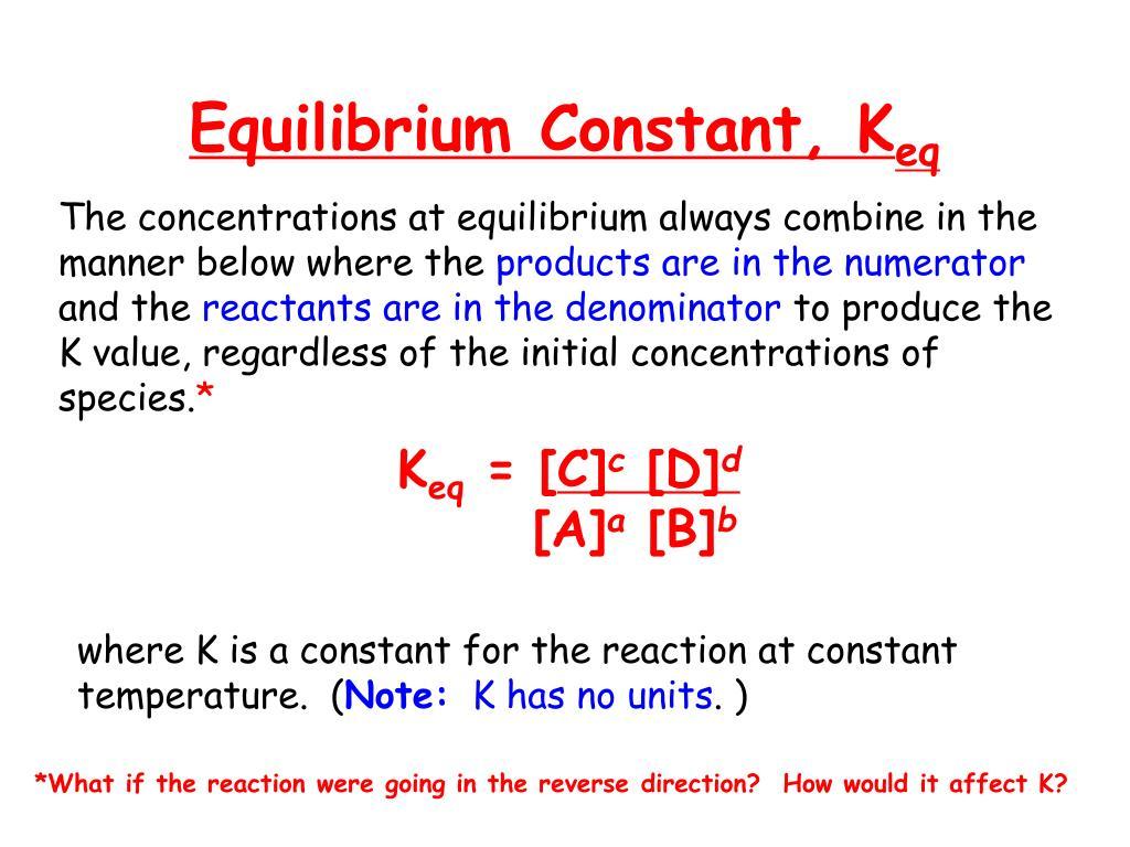 PPT - Determining An Equilibrium Constant Using