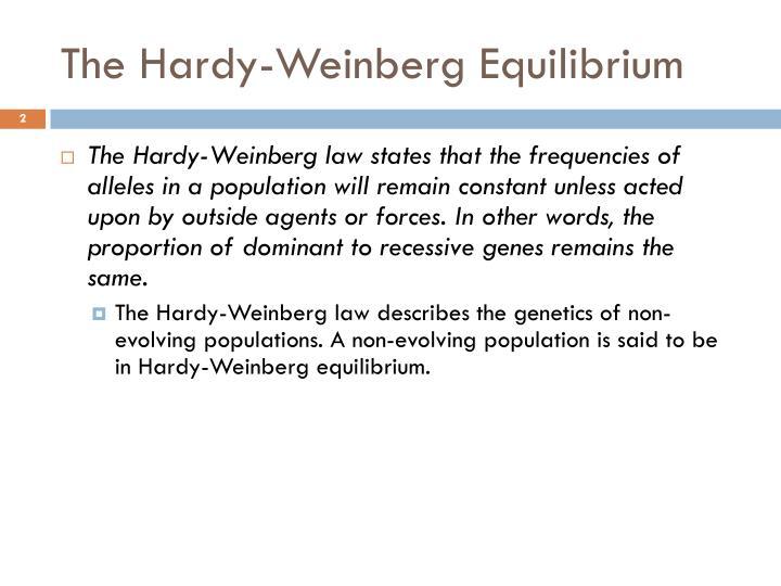 The hardy weinberg equilibrium