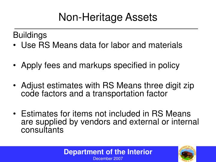 Non-Heritage Assets