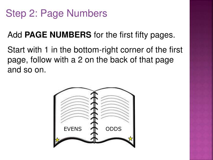Step 2: Page Numbers