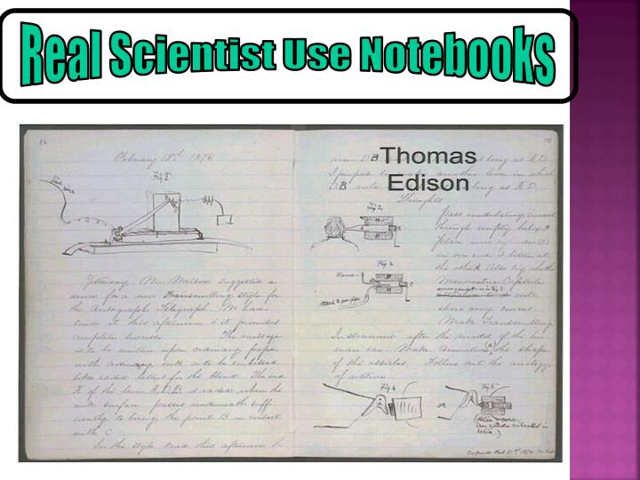 Real Scientist Use Notebooks