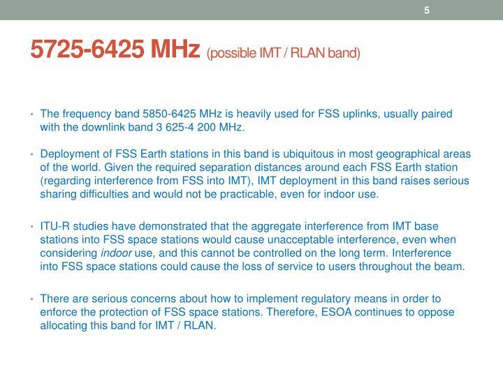 5725-6425 MHz
