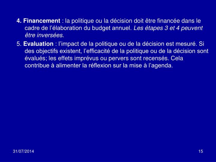 4. Financement
