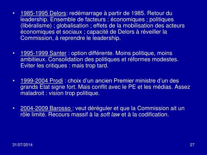 1985-1995 Delors