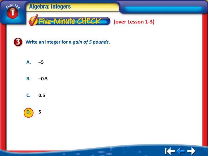 (over Lesson 1-3)