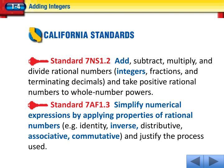 Standard 7NS1.2