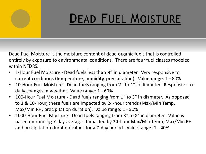 Dead Fuel Moisture