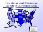total state local transactional tax rate on telecommunications