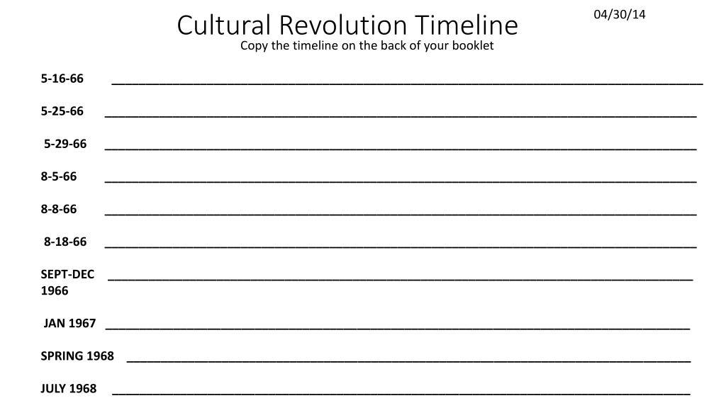 ppt cultural revolution timeline powerpoint presentation id 2737860