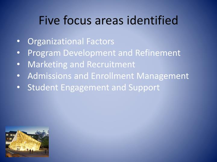 Five focus areas identified