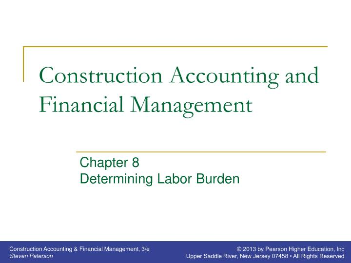 construction accounting and financial management n.