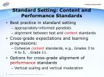 standard setting content and performance standards1