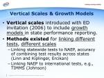 vertical scales growth models