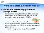 vertical scales growth models1