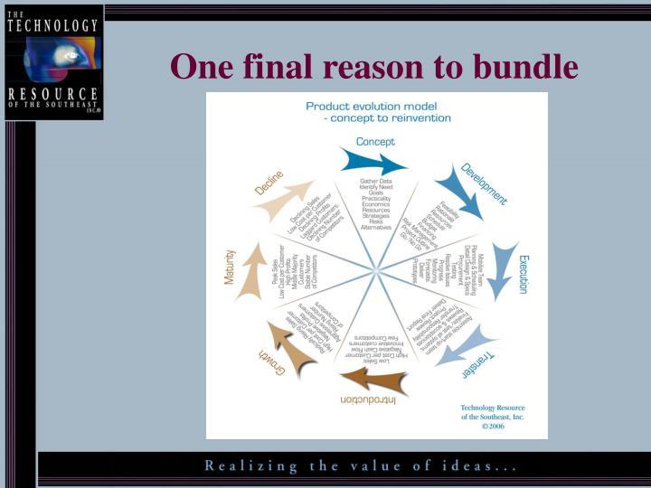 One final reason to bundle