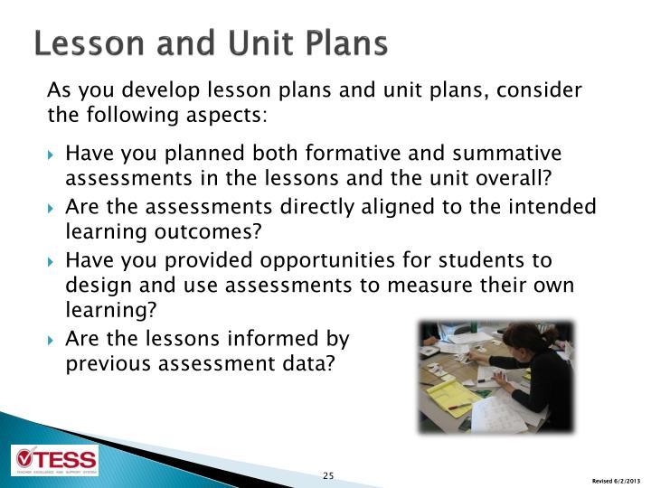 Lesson and Unit Plans