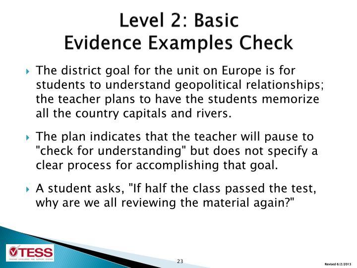 Level 2: Basic