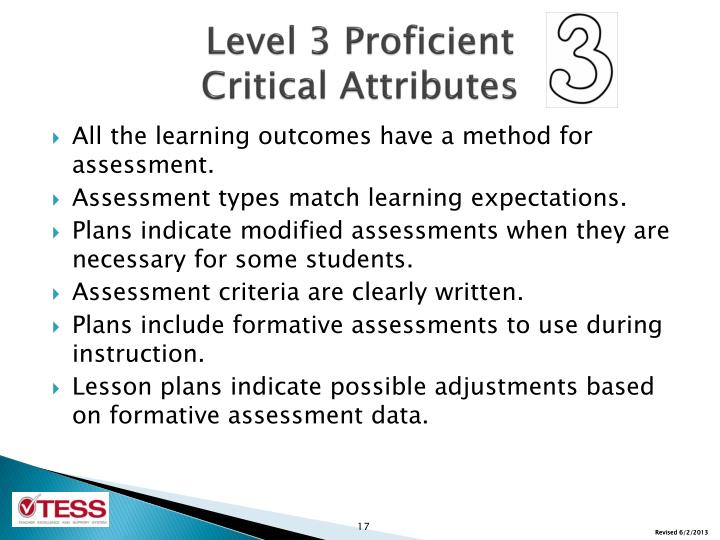 Level 3 Proficient