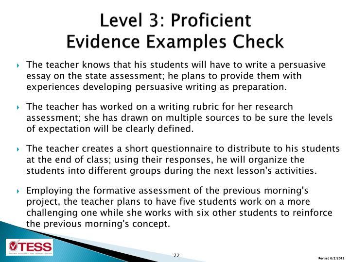 Level 3: Proficient