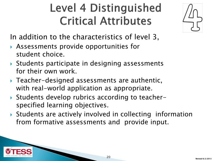 Level 4 Distinguished