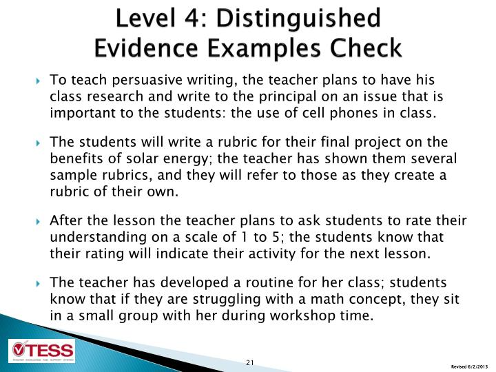 Level 4: Distinguished