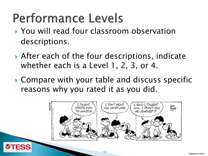 Performance Levels