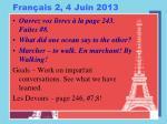fran ais 2 4 juin 2013