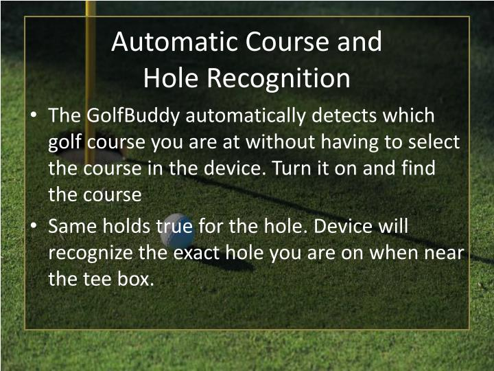 Automatic Course and