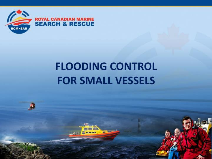 flooding control for small vessels n.