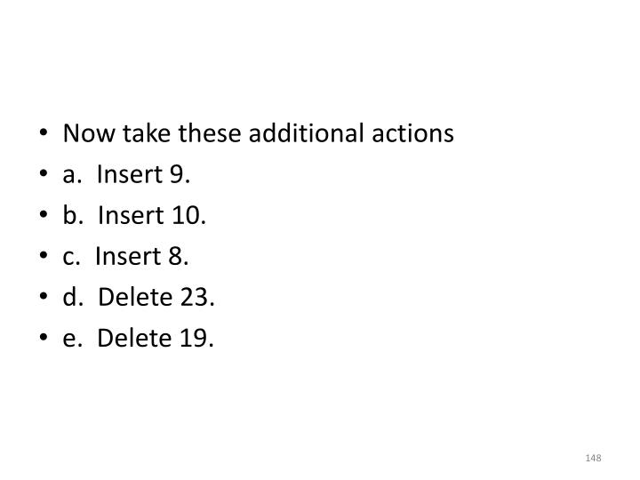 Now take these additional actions
