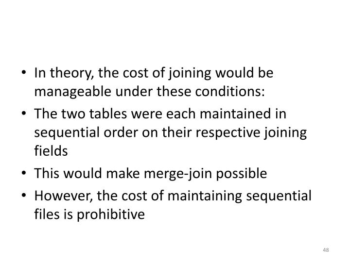 In theory, the cost of joining would be manageable under these conditions: