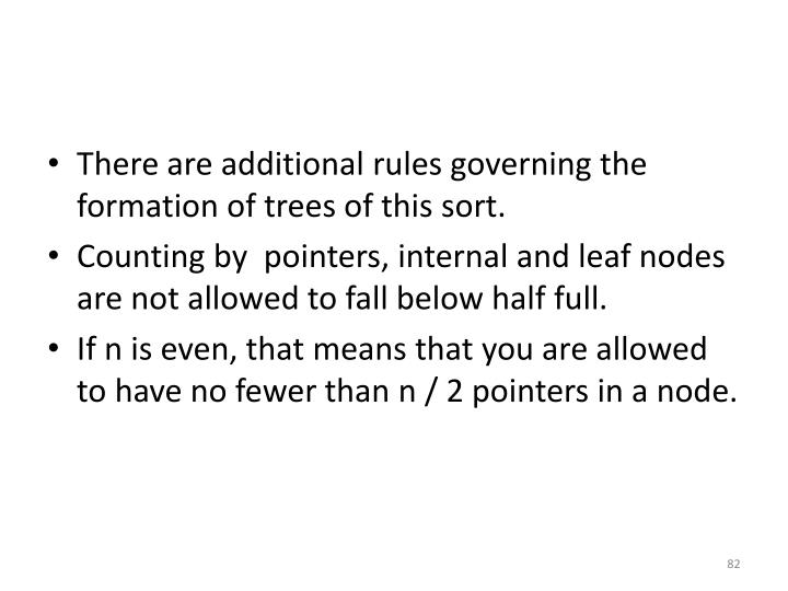 There are additional rules governing the formation of trees of this sort.