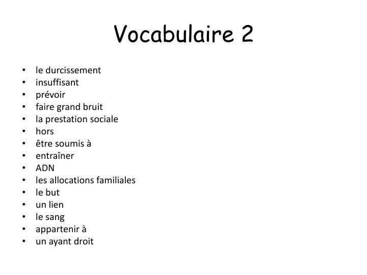 Vocabulaire 2