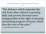 commentary on the state of france