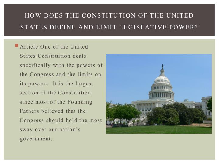 how does the constitution work and The constitution is the law of the land the work of many minds, the constitution stands as a model of cooperative statesmanship and the art of compromise.