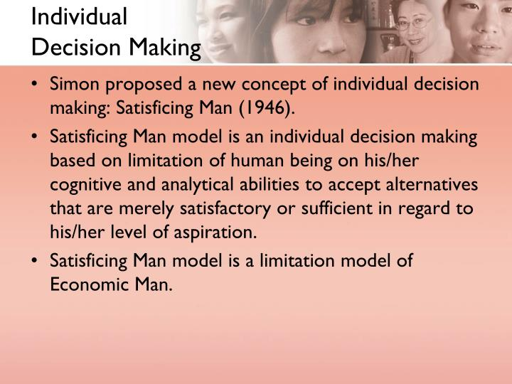 herbert a simon a decision making perspective 2007-3-29 herbert simon (3 volume set) edited  'herbert a simon: a decision-making perspective',  herbert simon and the logical positivist perspective in.