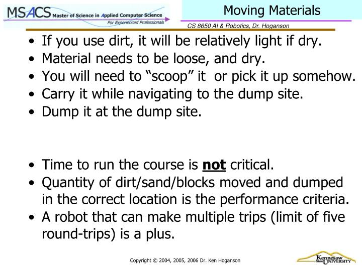 Moving Materials