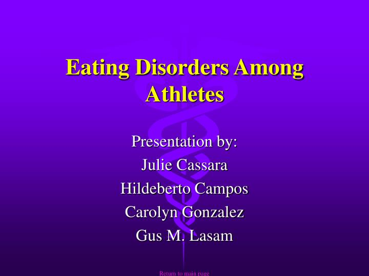 an introduction to the growing problem of eating disorders among athletes Understanding statistics on eating disorders estimated to be 03% and 10% among adolescent and of eating disorders in elite athletes is higher than in.