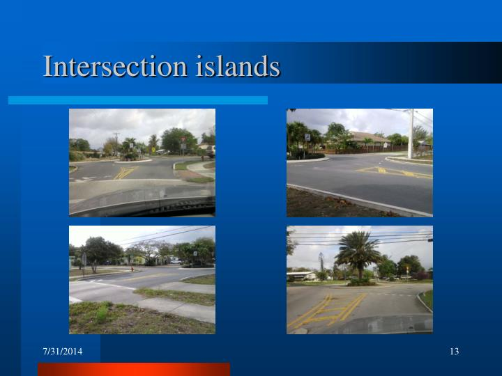 Intersection islands