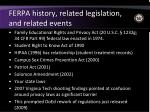 ferpa history related legislation and related events