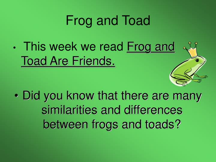 frog and toad n.