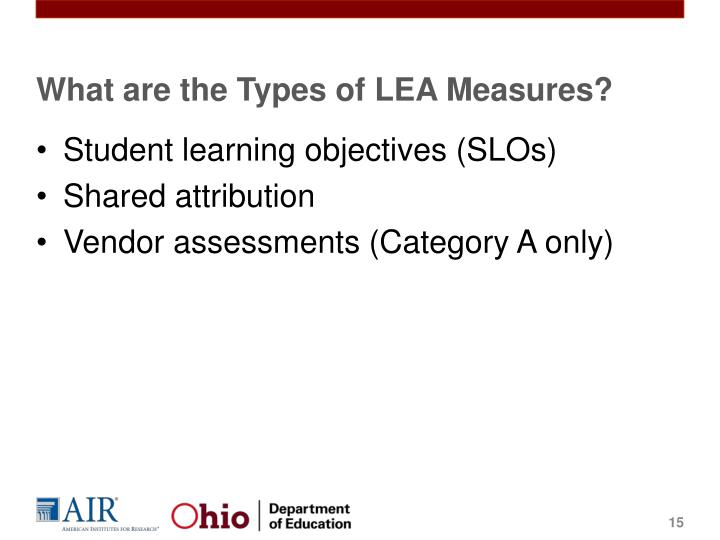 What are the Types of LEA Measures?