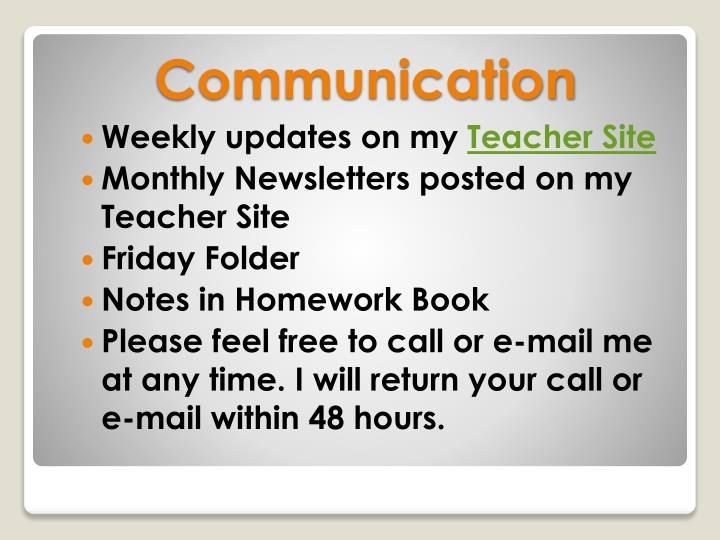 Weekly updates on my
