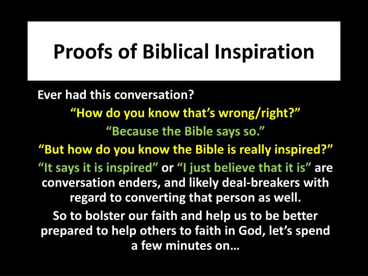 proofs of biblical inspiration n.