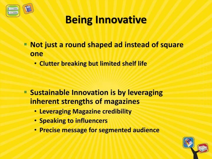 Being Innovative