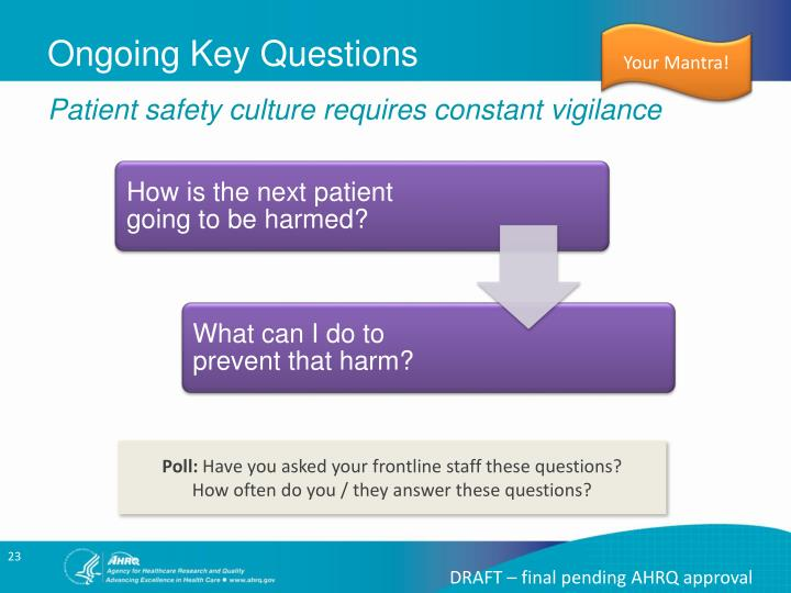 Ongoing Key Questions