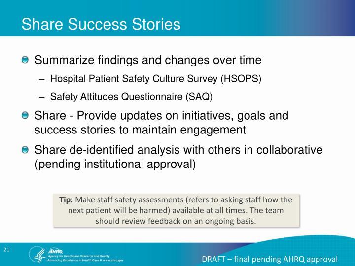 Share Success Stories