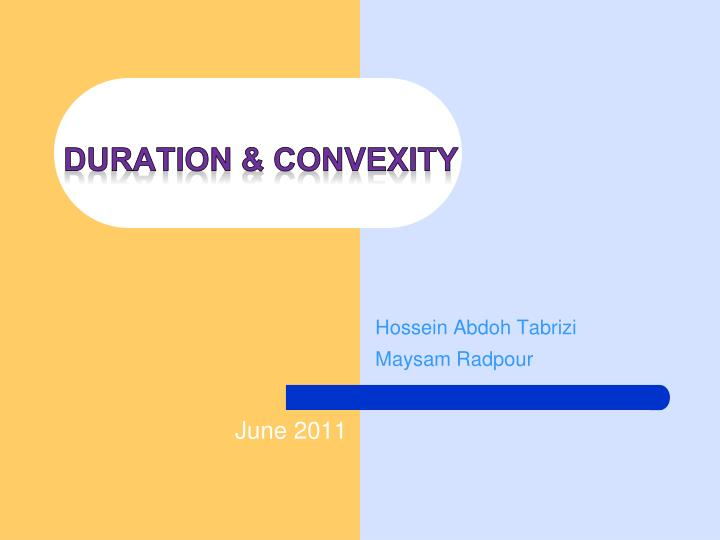 duration convexity n.