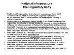 national infrastructure the regulatory body