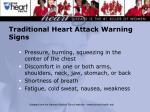 traditional heart attack warning signs